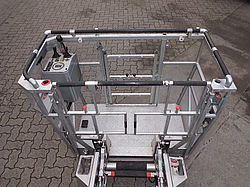 Used ladder trucks cage renovation - Rosenbauer
