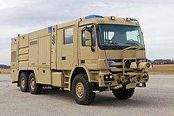 Dry powder turret with compact dimensions - Rosenbauer